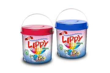 Lenços umedecidos Lippy Wipes